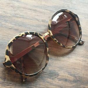 Express Oversized Round Tortoise Glasses